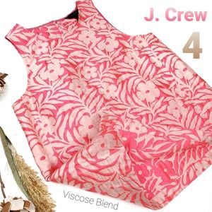 New J. CREW Coral Tan Gold Floral Embroider Top 4